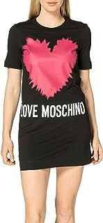 Love Moschino T-Dress-Short Sleeves-Regular Fit Vestito Casual Donna