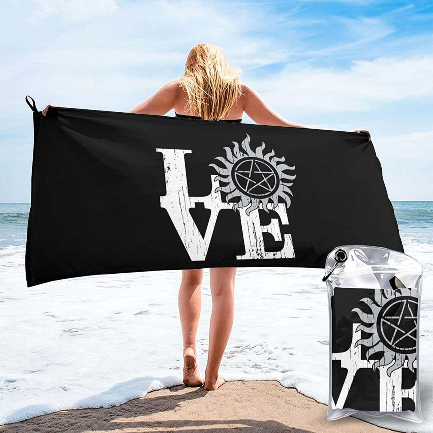 Love Supernatural Oversized Beach Outlet sale feature Towels Soft New popularity Microfiber Lightwe