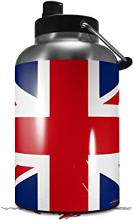 Skin Decal Wrap for 2017 RTIC One Gallon Jug Union Jack 02 (Jug NOT INCLUDED) by WraptorSkinz