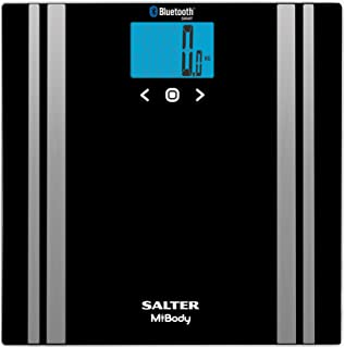 Salter MiBody Digital Bluetooth Analyser Scale, Black (9159 BK3R)