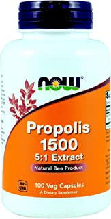 Now Foods Propolis 1500 mg 100 capsules (Pack of 3)