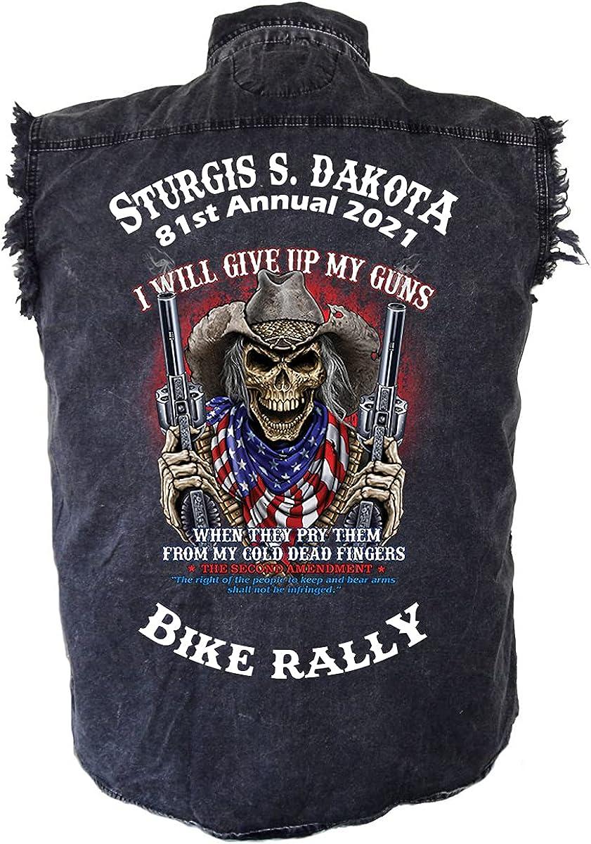 Opening large release sale San Jose Mall Leather Supreme Mens Sturgis Bike Rally Biker Denim 2021 Cowboy