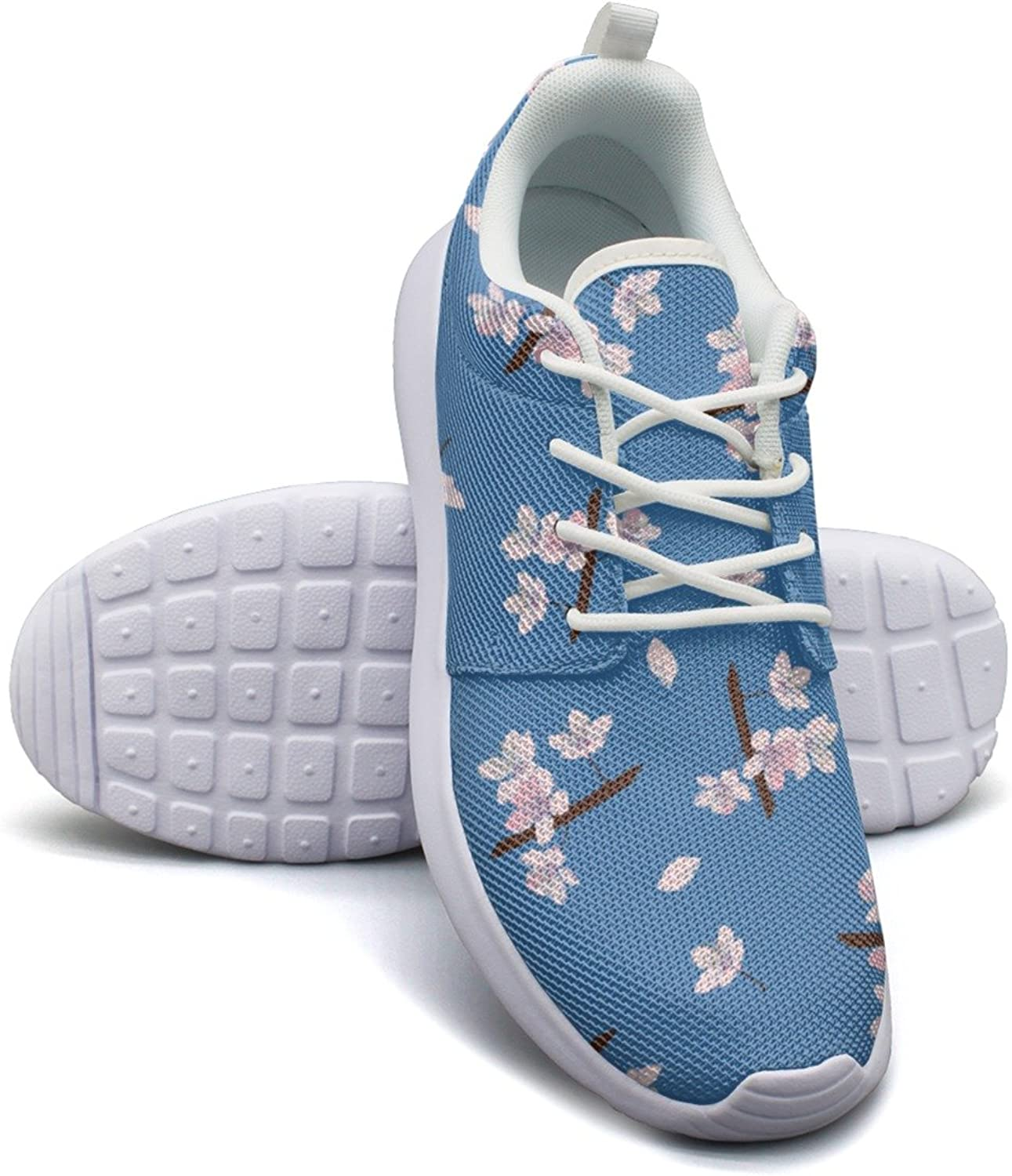 Cherry Blossom Pattern Vector Image Women's Fashion Sneakers shoes Hip Hop Mesh Lightweight Tennis Sneakers