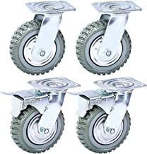 Nisorpa 6in Swivel Caster Wheels,Heavy Duty 4PCS Pack Anti-Skid Rubber Swivel Casters..