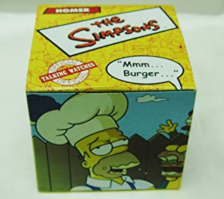 Burger King Official Simpsons LCD Talking Watch Homer Simpson MMM...Burger...-2002 Promo Watch-New in Box