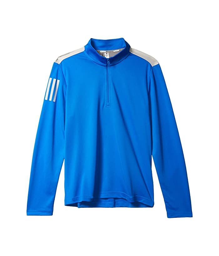 adidas Golf Kids  3-Stripes Pullover (Little Kids/Big Kids) (Glory Blue) Boys Clothing