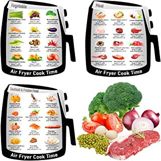 Cheat Sheet Magnets Refrigerator Magnets Air Frying Cook Time Chart Guide Recipes,Air Fryer Magnetic Cheat Sheet Cookbook Cooking
