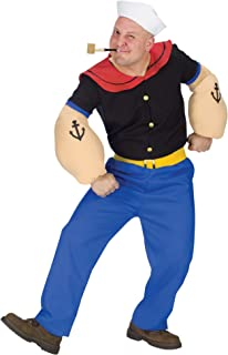 Fun World Costumes Mens Mens Popeye Costume, Blue, One Size
