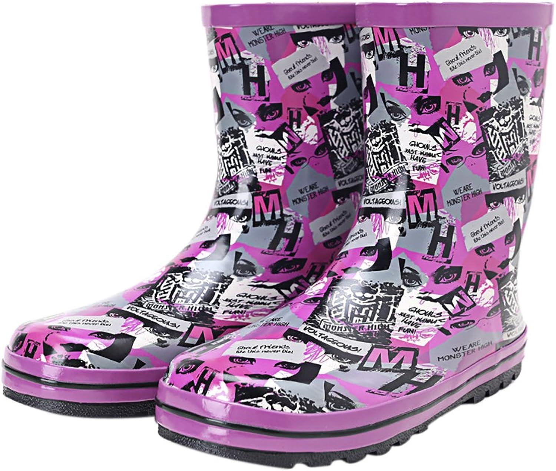 Women's Fashion Printing Waterproof Rain Boots Round Toe Anti-Slip Rain shoes