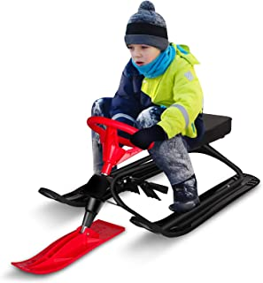 Frost Protection Sledge with Handles for Winter Outdoor Sports eiuEQIU Snow Racer for Tobogganing Snow Slider for the Whole Family Ski Set Childrens Ski All Mountain Ski Allmountain Rocker