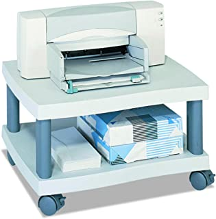 Safco Products Wave Underdesk Printer Stand , Gray Powder Coat Finish, Swivel Wheels for Mobility, 50 lb. Capacity