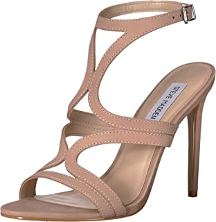 Steve Madden Womens Sidney Leather Open Toe Casual Strappy Sandals