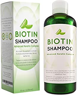 Natural Hair Loss Shampoo for Men and Women with Biotin for Hair Growth – DHT Blocker for Thicker Hair Volume – Sulfate Free Volumizing Shampoo – Color Treated Hair Care for Thinning Hair – 8 oz