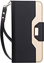 ProCase Wallet Case for Google Pixel 3, Flip Kickstand Case with Card Slots Mirror Wristlet, Folding Stand Protective Cover for Google Pixel 3 (2018 Release) -Black