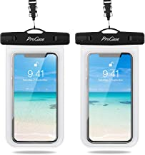 """ProCase Waterproof Phone Pouch 2 Pack, Universal Cellphone Waterproof Underwater Case Dry Bag for iPhone 12 Pro Max 11 Pro Xs XR X 8 7 6S, Samsung Galaxy S20 S10 S9 S8 Pixel up to 7.0"""" - Clear"""