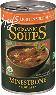 Amy's Organic Soups, Light in Sodium Minestrone, 14.1 Ounce (Pack of 12)