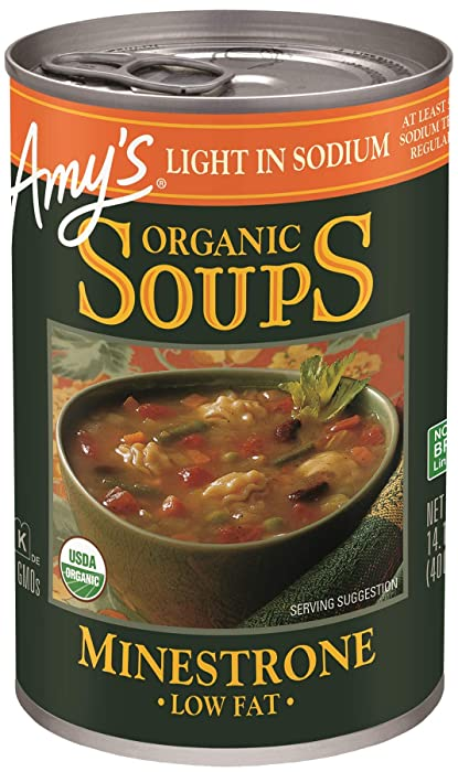 Amy's Organic Soups, Light in Sodium Minestrone, 14.1 Ounce