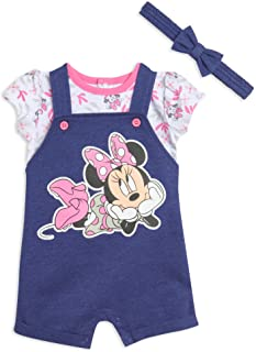 Minnie Mouse Baby French Terry Shortalls Short Sleeve...