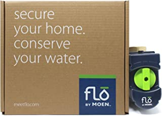 Moen 900-002 Flo 1-1/4-Inch Leak Detection Smart Home Water Security System, 1.25 to 1.5 inch