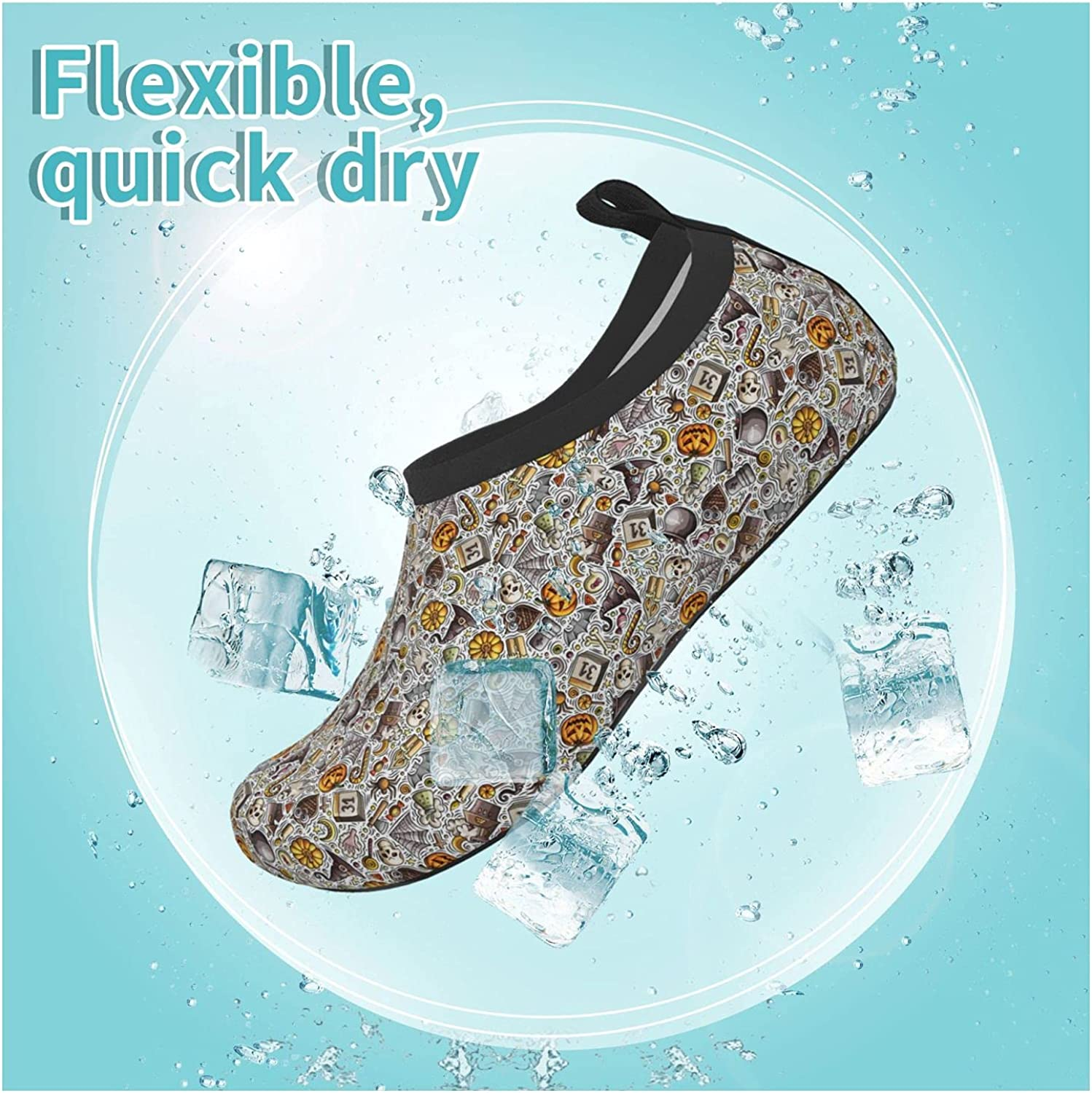 Animal Funny Autumn Owl Halloween Children's Water Shoes Feel Barefoot for Swimming Beach Boating Surfing Yoga