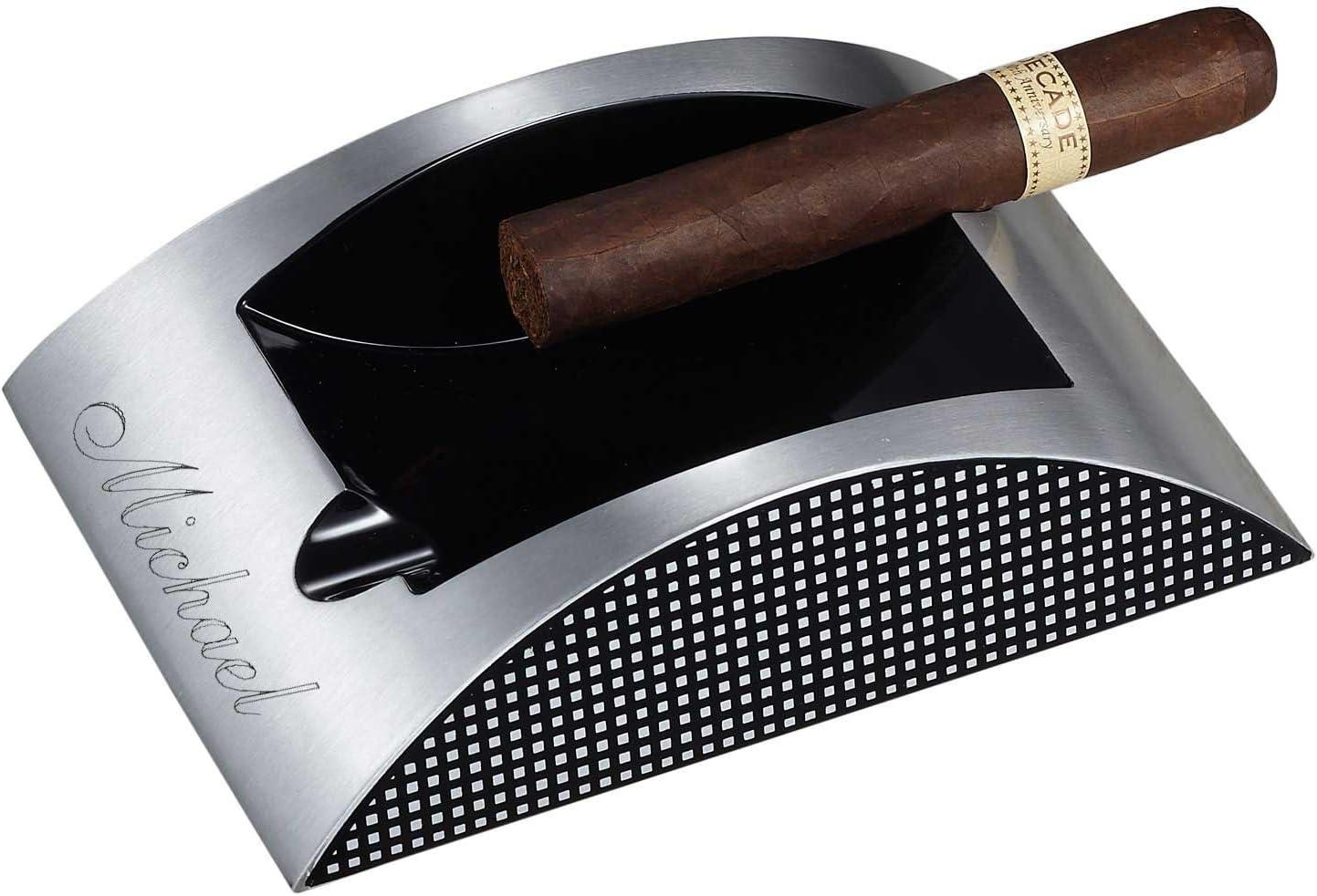 最安値挑戦 Visol Personalized Cigar Ashtray Engraving with Free 賜物