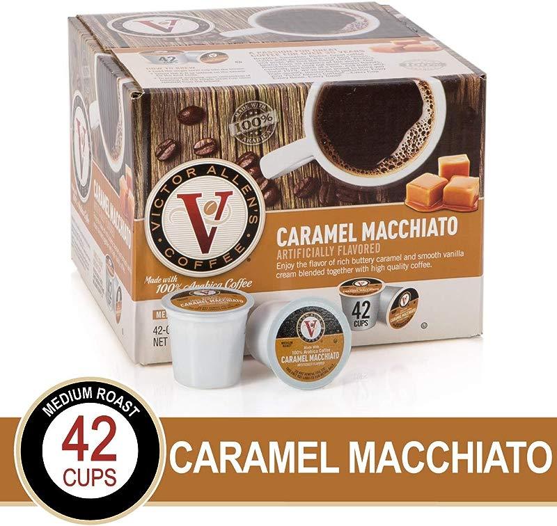 Caramel Macchiato For K Cup Keurig 2 0 Brewers 42 Count Victor Allen S Coffee Medium Roast Single Serve Coffee Pods