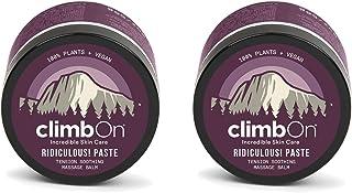 climbOn RIDICULOUS! Paste - Essential Oil Topical Pain Relief Cream, Non-GMO Plant-Based Balm, 2 oz Jar 2 Pack