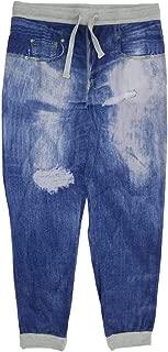 Top Drawer Blue Denim Jeams Print Sleep Lounge Jogger Pants