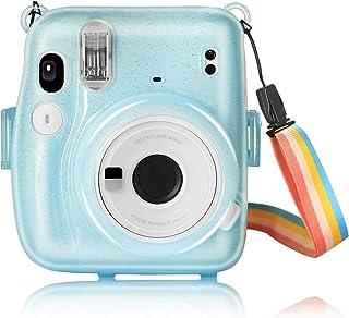 YEMXAM Bolsa para cámara instantánea Compatible con Instax Mini 11, Funda para cámara, PVC Duro Transparente, Funda Protec...