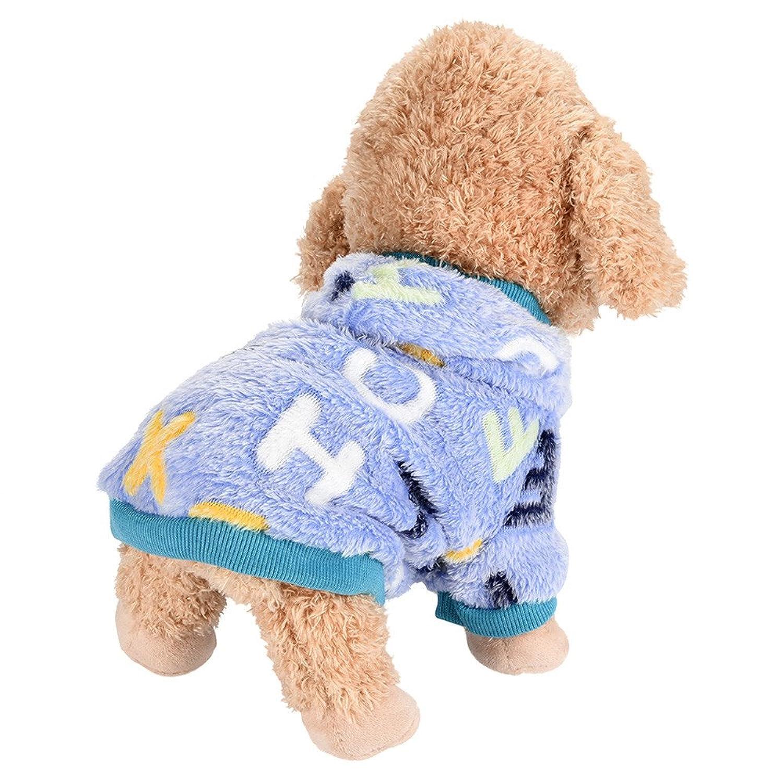 LOPRUTE ペット 服 犬用 暖かく 快適なペット 服 スーツ コート ジャケット 春 秋 冬 犬のフランネルのTシャツ 春秋用
