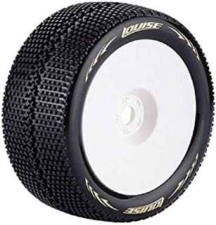HomyDelight Louise T-Turbo 1/8 Scale Truggy Tires Super Soft Compound / 1/2 Offset/White Rim/Mounted