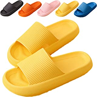 Cuidado Chaussures de Plage Femmes Hommes Claquettes de Douche Chaussons Antidérapantes Pantoufles Bleues Piscine Salle de...