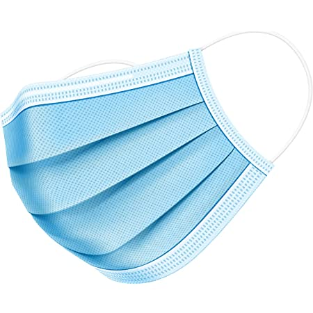 OxGord Artnaturals Face Mask - 50 Disposable Ear-Loop Masks - Protection from Dust, Pollen, and More - Mouth Cover Ideal for Everyday Use (Blue)