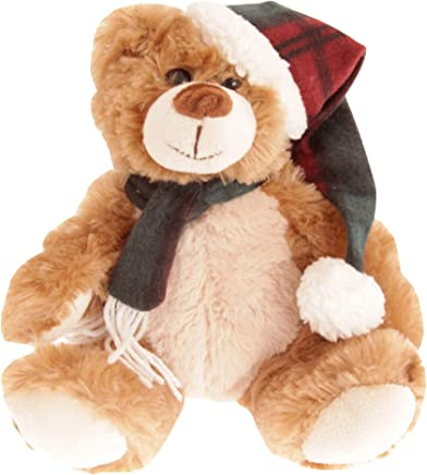 North Pole Christmas Teddy Plush Toy (UK Size: One Size) (Brown)