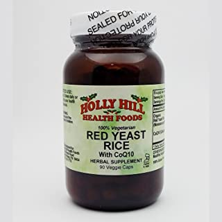 Holly Hill Health Foods, Red Yeast Rice, 90 Vegetarian Capsules