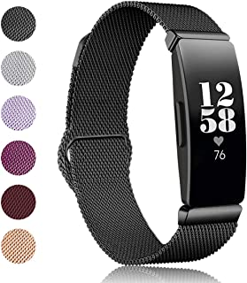 Kartice Compatible Fitbit Inspire/Fitbit Inspire HRバンド 高級ミラネーゼループバンド(Large,ブラック)