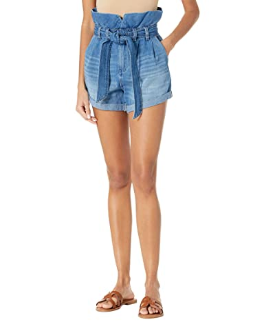 Blank NYC Paperbag Self-Belt Denim Shorts with Cuff in Dancing Queen Women