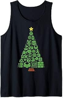 Super Mario Item Characters Christmas Tree Tank Top
