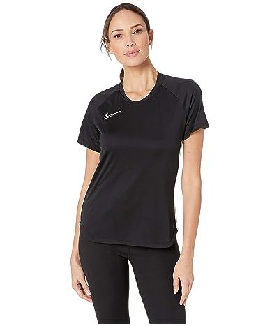 Nike Dry Academy Top Short Sleeve (Black/White/White) Women