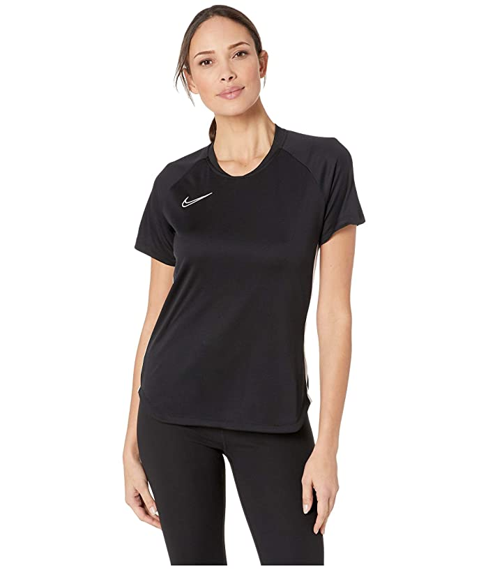 Nike Dry Academy Top Short Sleeve (Black/White/White) Women