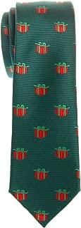 Retreez Christmas Gift Graphic Woven Microfiber Skinny Tie - Various Colors