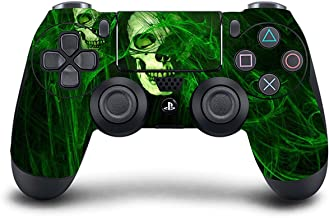 PS4 DualShock wireless Controller Pro console - Newest PlayStation4 Controller with Soft Grip & Exclusive Customized Version Skin (PS4-Green Skull)