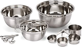 Estilo EST0237 Mix and Measure Stainless Steel Measuring Cups and Spoons, Silver, Set of 12