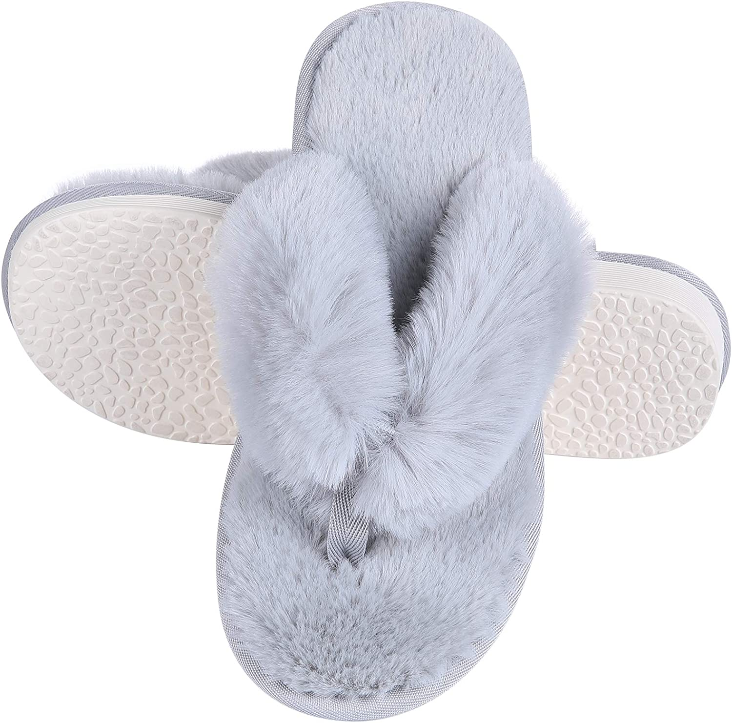 Women's Soft Special Campaign Plush Flip Outstanding Flops Comfortable Slippers Non Fuzz Slip