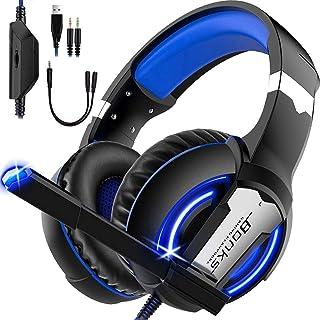 SEASKY Auriculares para Juegos,Auriculares para Juegos con Aislamiento de Ruido con Cable de,Micrófono para PS4 Xbox Control del Volumen audifonos Gaming.