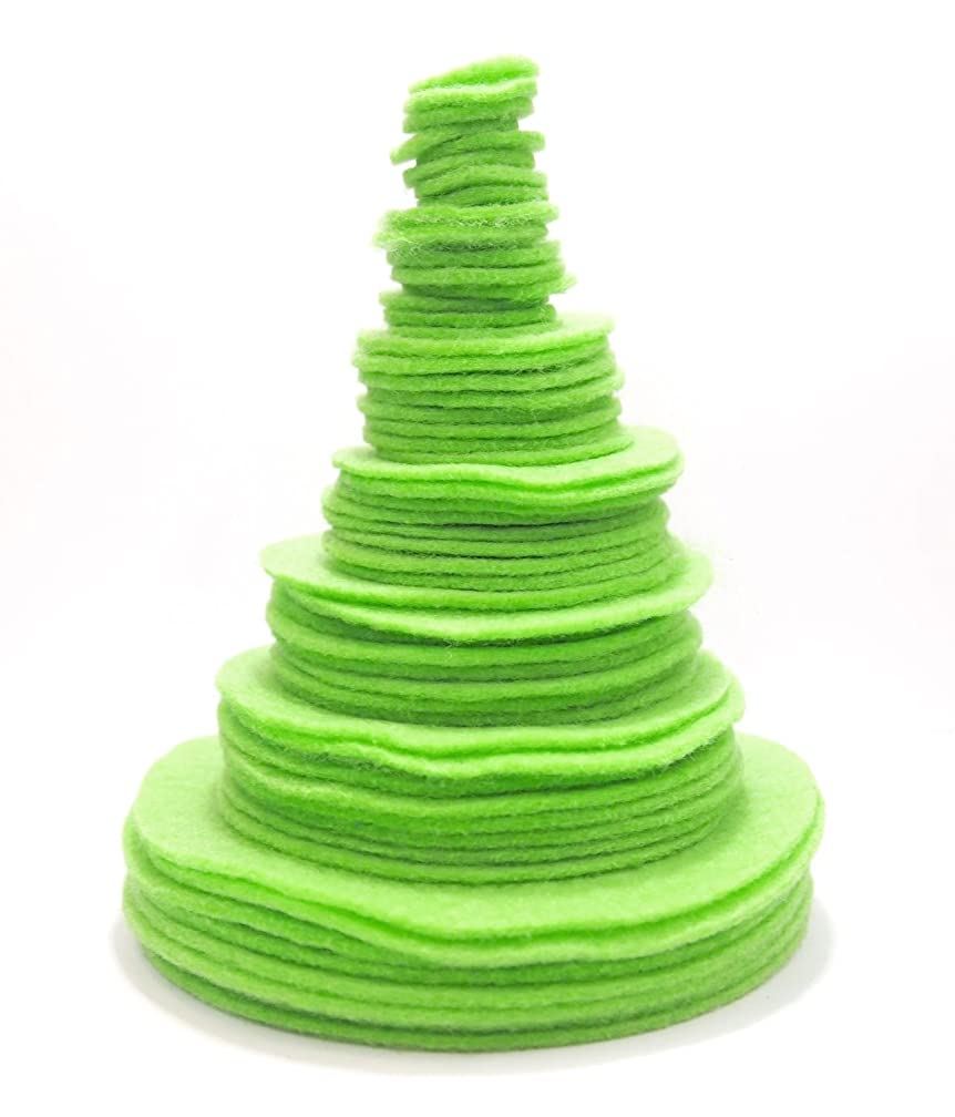 Playfully Ever After Light Green 3/4 to 4 Inch Assorted Sizes 56pc Felt Circles