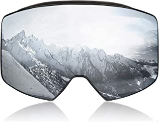 PHZ. Ski Goggles Snowboard Goggles UV 400 Protection Anti Fog Snow Goggles for Men Women Youth