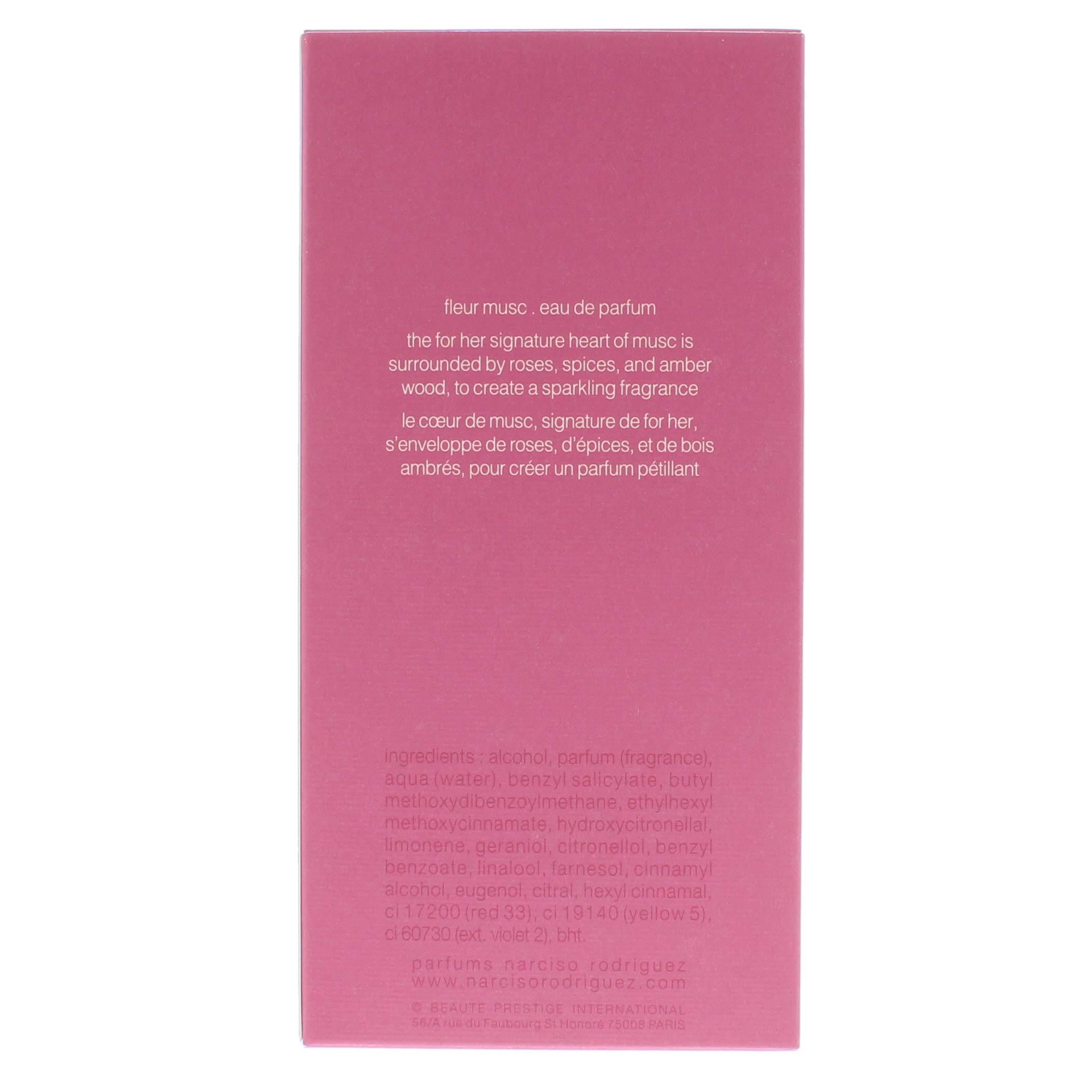 Narciso Rodriguez Fleur Musc for Her 3.3 Ounce Eau De Parfum Spray, 3.3 Ounce