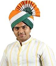 KALAPURI Indian Tricolor Cotton Pheta (Turban)
