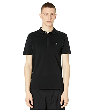 AllSaints Brace Short Sleeve Polo (Jet Black) Men